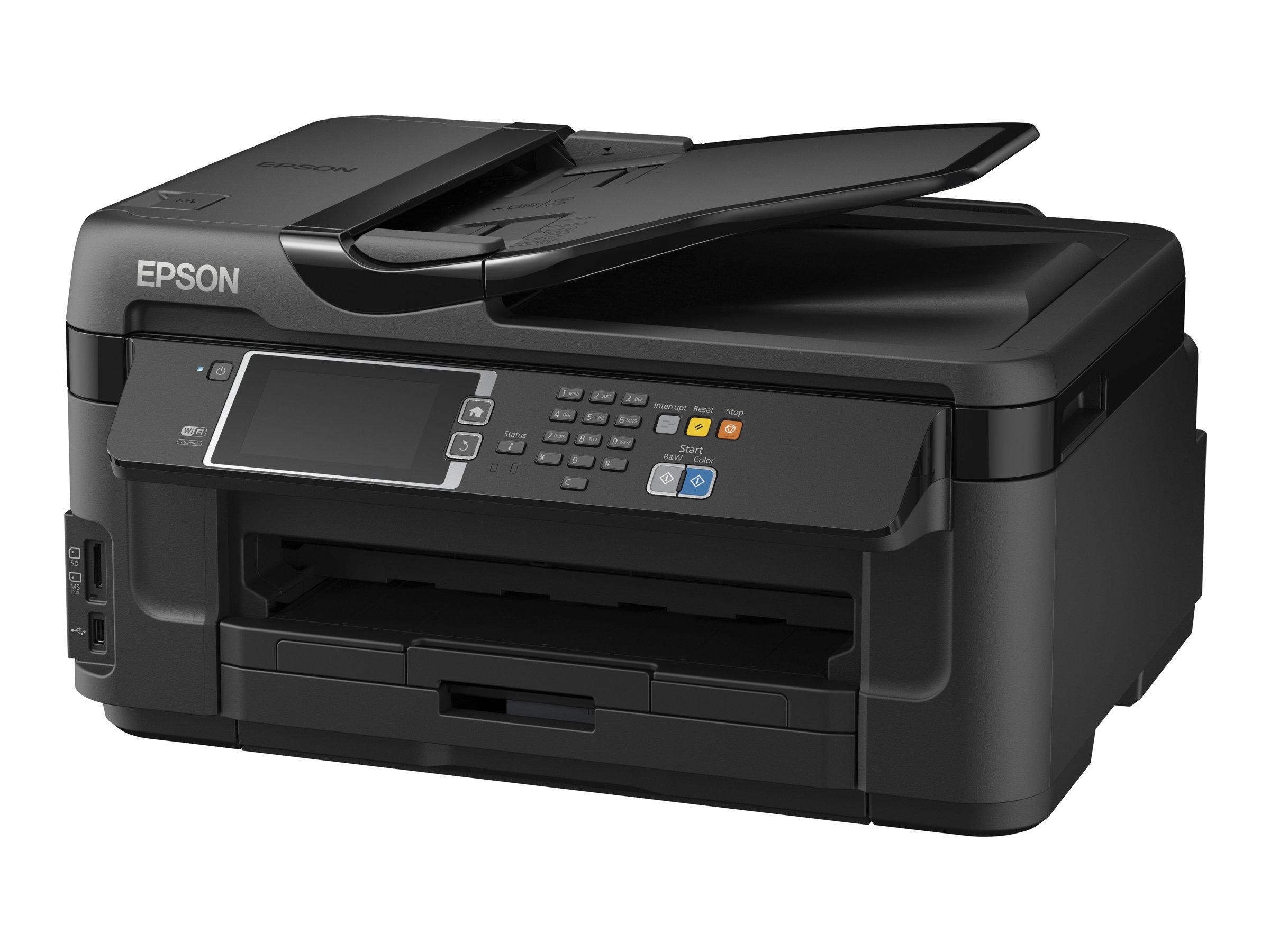 Epson WorkForce WF-7610DWF - Multifunktionsdrucker - Farbe - Tintenstrahl - A3 (Medien) - bis zu 18 Seiten/Min. (Drucken)