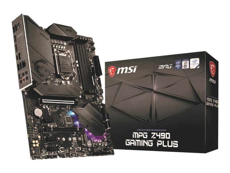 MSI MPG Z490 GAMING PLUS - Motherboard - ATX - LGA1200-Sockel - Z490 Chipsatz - USB-C Gen2, USB-C Gen1, USB 3.2 Gen 1, USB 3.2 G