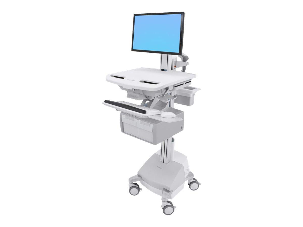 Ergotron Cart with LCD Pivot, SLA Powered, 2 Tall Drawers - Wagen für LCD-Display/Tastatur/Maus/CPU/Notebook/Barcodescanner - ve