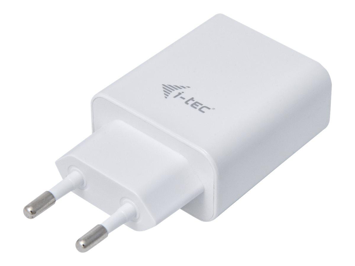 i-Tec - Netzteil - 2.4 A - 2 Ausgabeanschlussstellen (2 x USB) - weiss