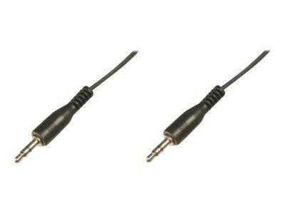 ASSMANN - Audiokabel - Stereo Mini-Klinkenstecker (M) bis Stereo Mini-Klinkenstecker (M) - 2.5 m - abgeschirmt - Schwarz