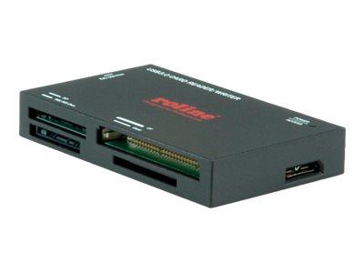 ROLINE USB 3.0 Multi Card Reader - Kartenleser (CF I, CF II, MS, MS PRO, MMC, SD, MS Duo, MMCmobile, microSD, MMCplus, SDHC, MS