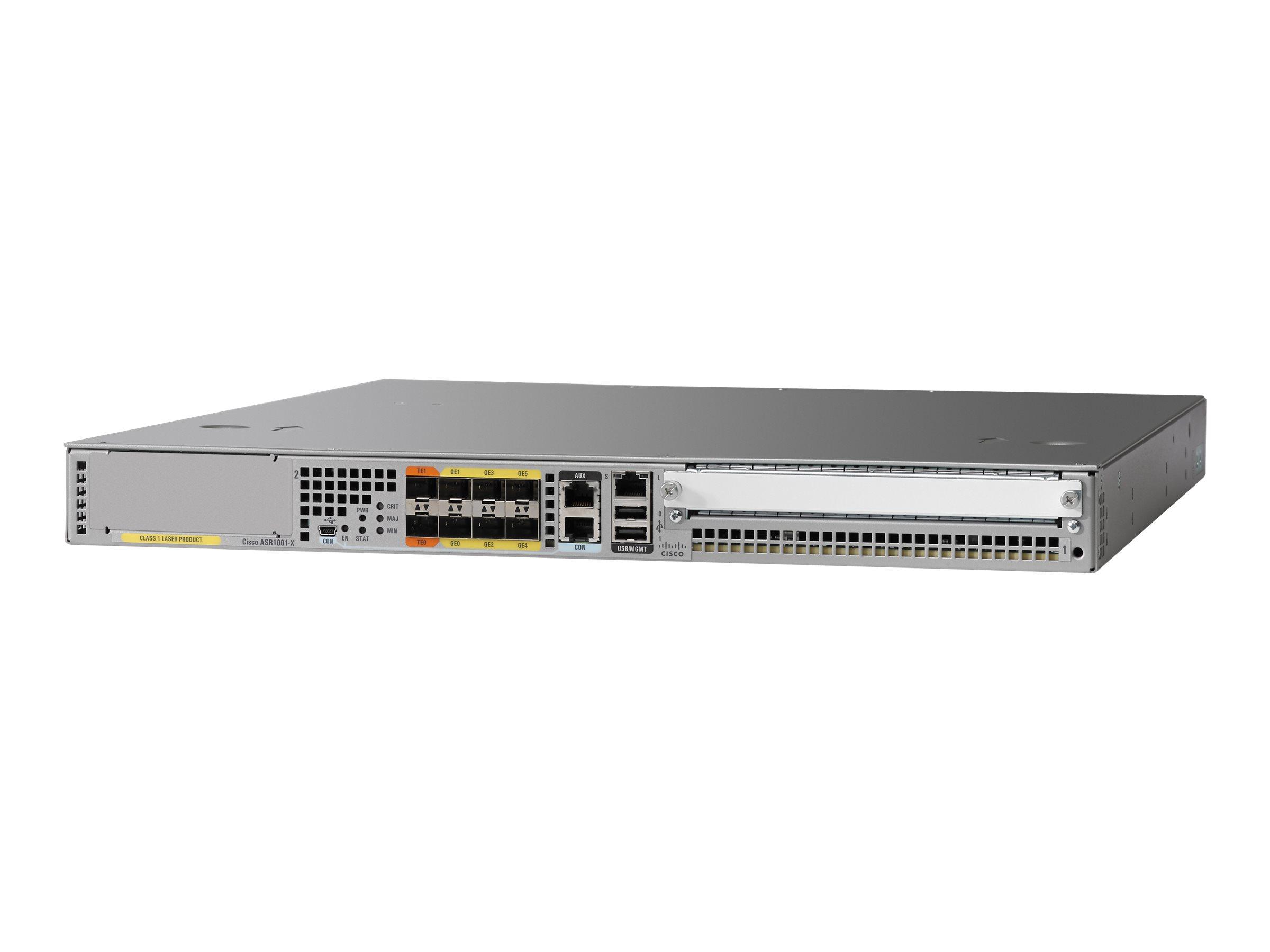 Cisco ASR 1001-X - Router - GigE - an Rack montierbar - mit Cisco ASR 1000 Series Embedded Services Processor, 2,5 Gbit/s