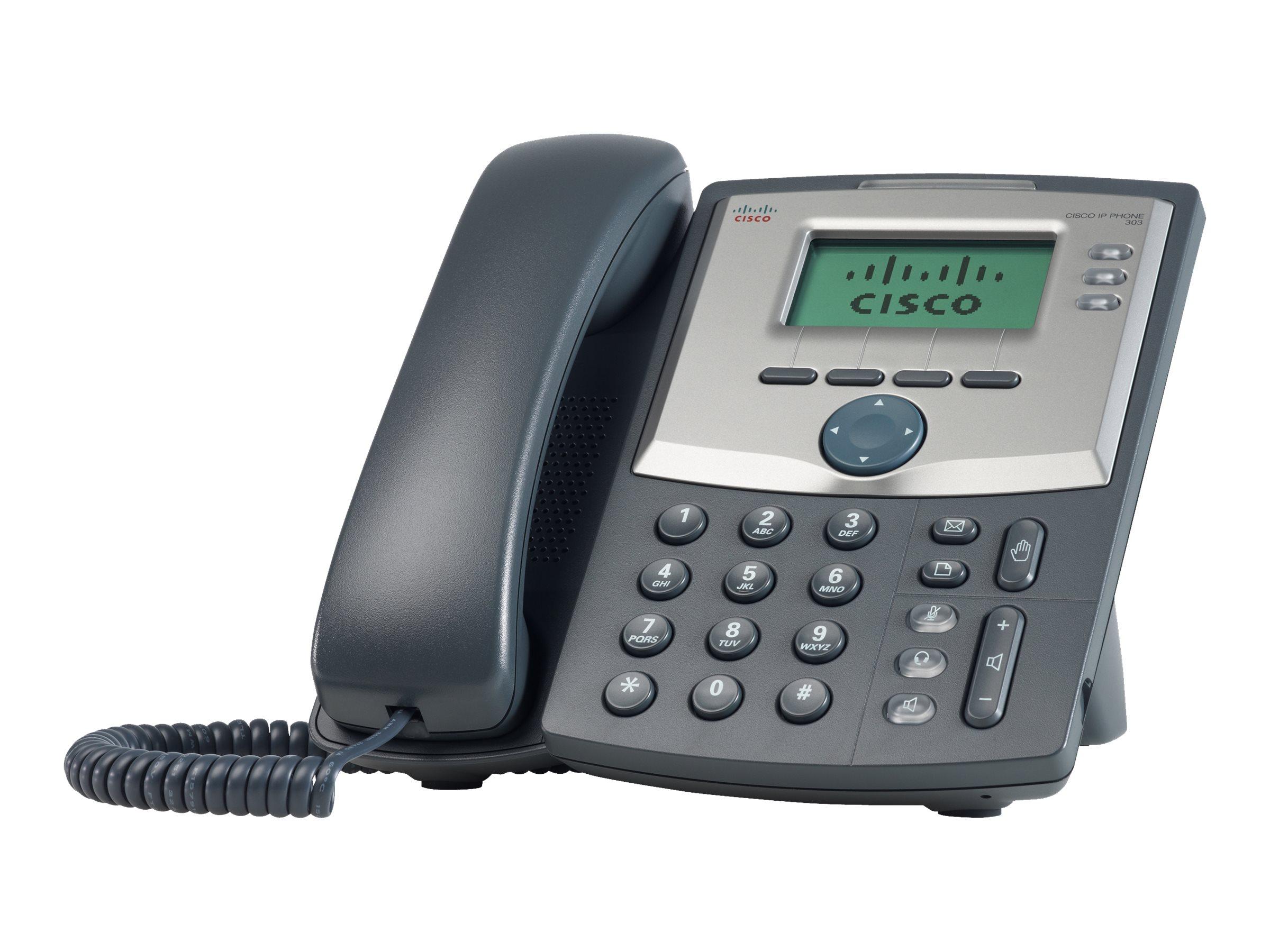 Cisco Small Business SPA 303 - VoIP-Telefon - dreiweg Anruffunktion - SIP, SIP v2, SPCP - 3 Leitungen
