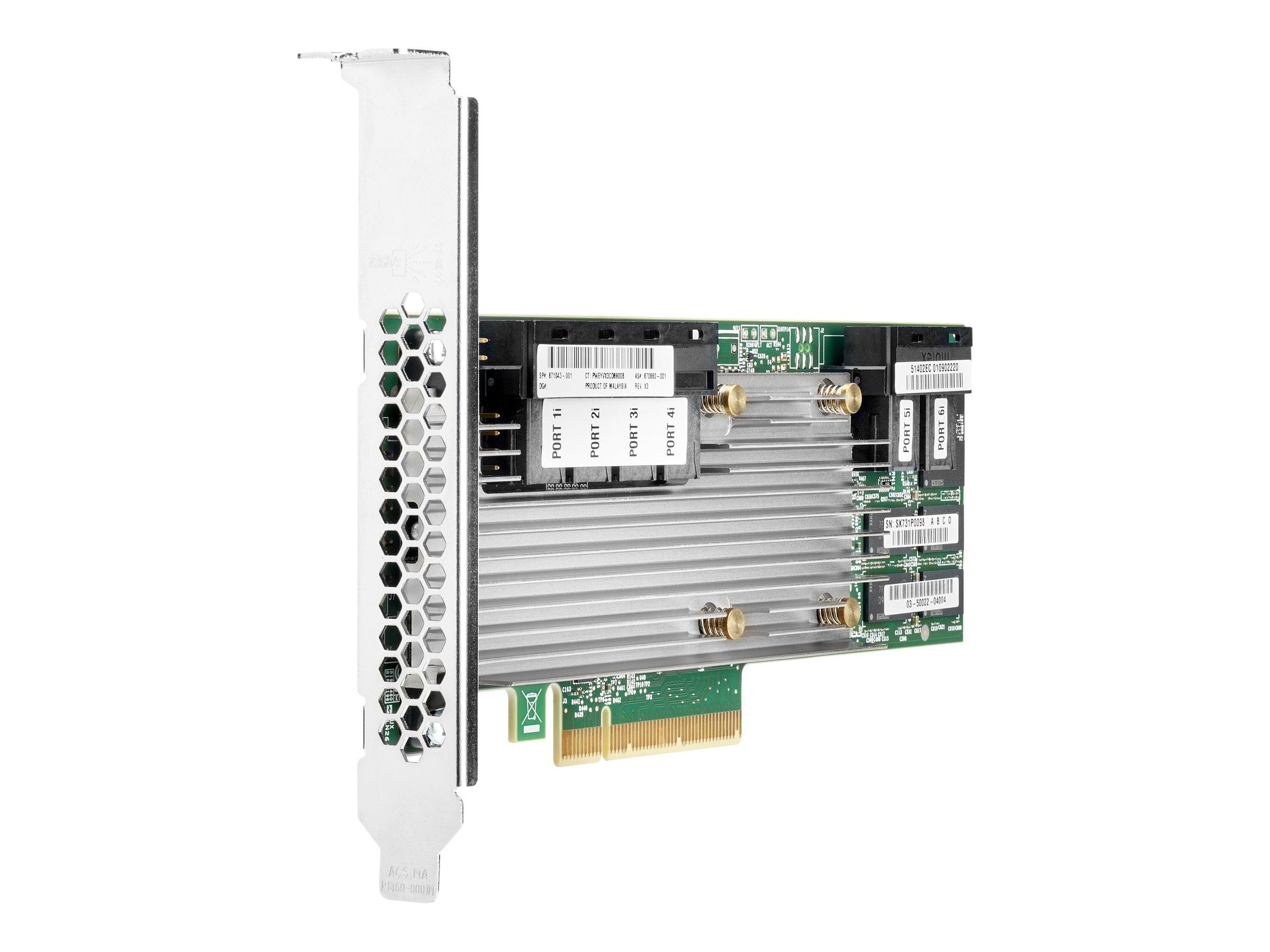 HPE Smart Array P824i-p MR Gen10 - Speichercontroller (RAID) - 24 Sender/Kanal - SATA 6Gb/s / SAS 12Gb/s - 12 Gbit/s - RAID 0, 1