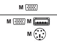 LevelOne ACC-2101 - Tastatur- / Video- / Maus- (KVM-) Kabel - HD-15 (VGA) (M) bis USB, PS/2, HD-15 (VGA) (M) - 1.8 m - Daumensch