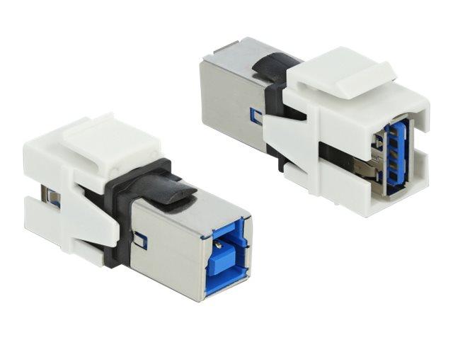 DeLOCK Keystone module - USB-Adapter - USB Typ A (W) bis USB Type B (W) - weiss