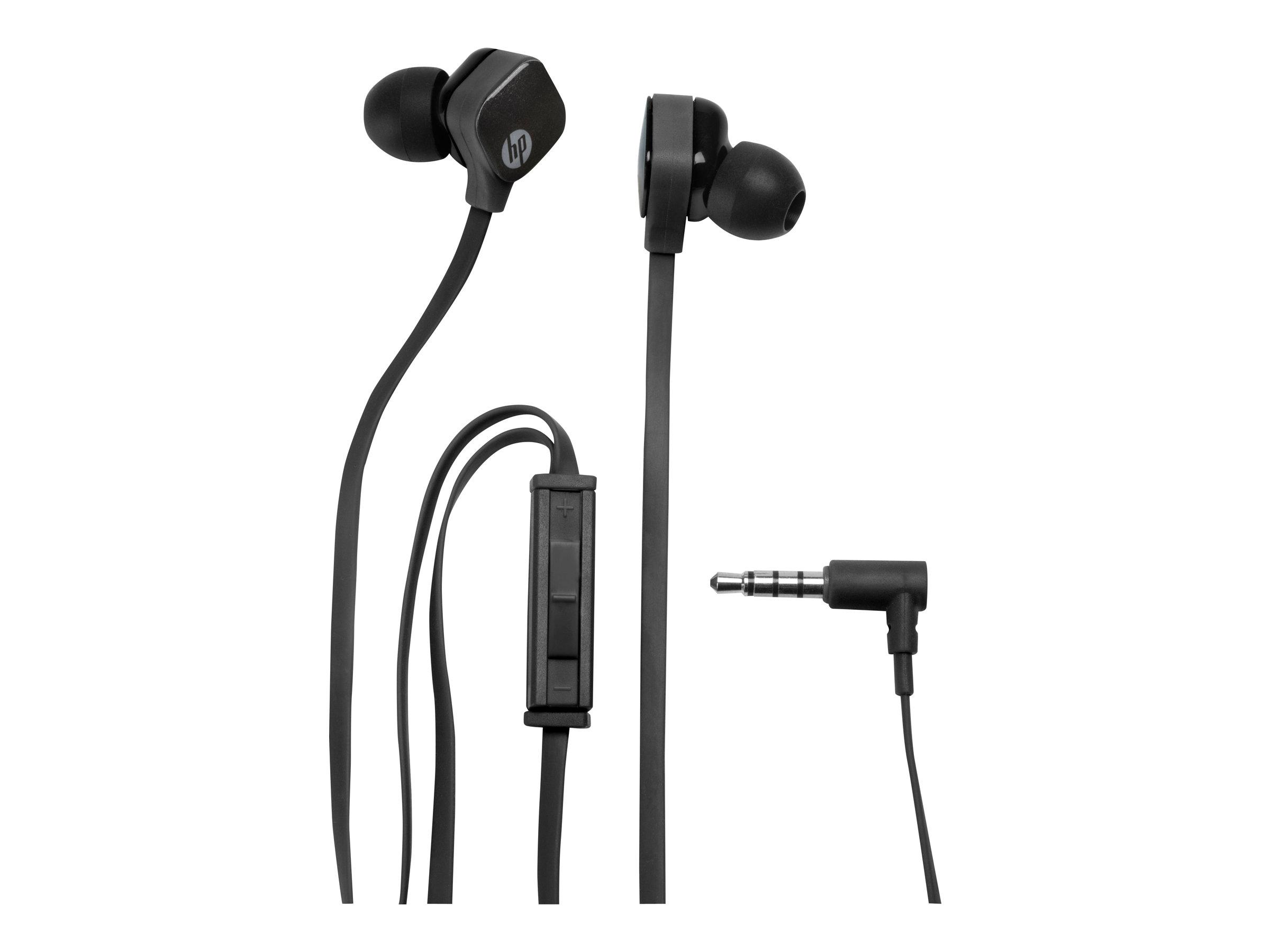 HP H2310 - Headset - im Ohr - kabelgebunden - Sparkling Black - für OMEN by HP 15; OMEN Obelisk by HP 875; HP 14; Envy 17; ENVY