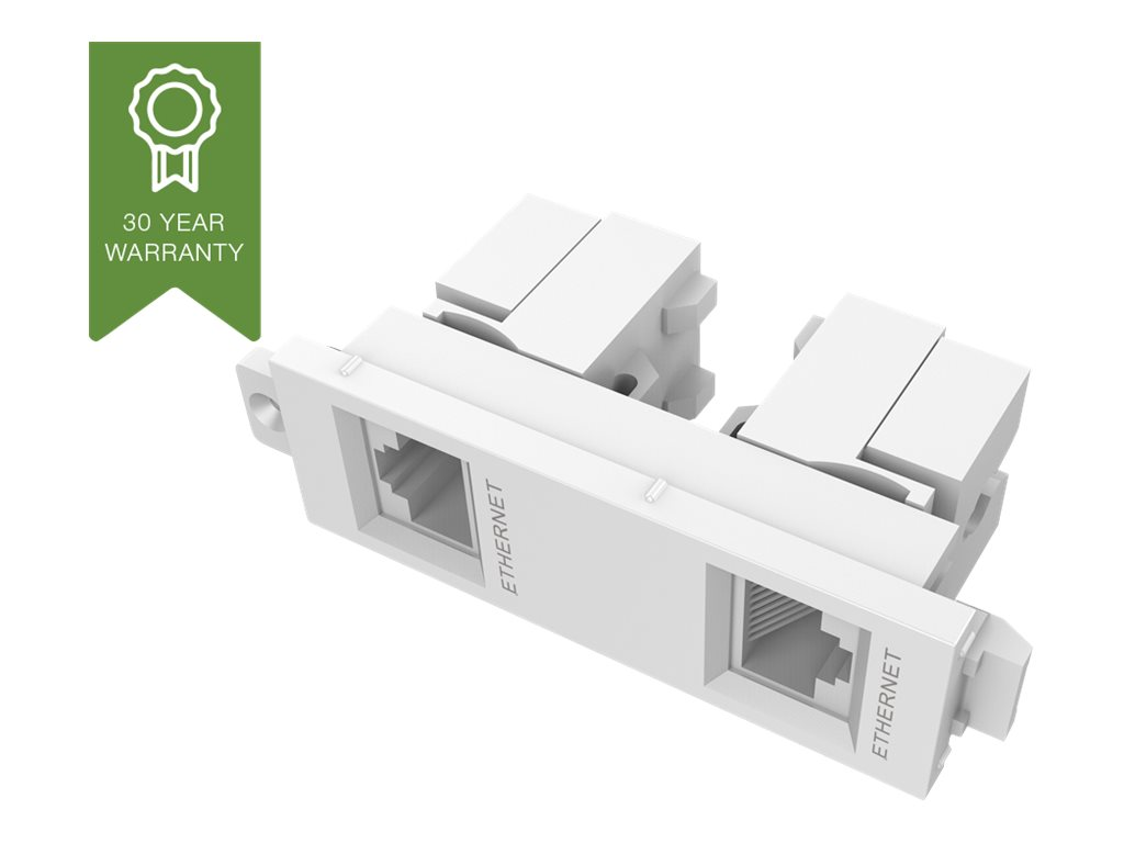 VISION TechConnect 3 Twin RJ45 module - Modulares Faceplate-Snap-In - RJ-45 X 2