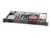 Supermicro SC510 T-203B - Rack-Montage - 1U - micro ATX - SATA/SAS - Hot-Swap 200 Watt