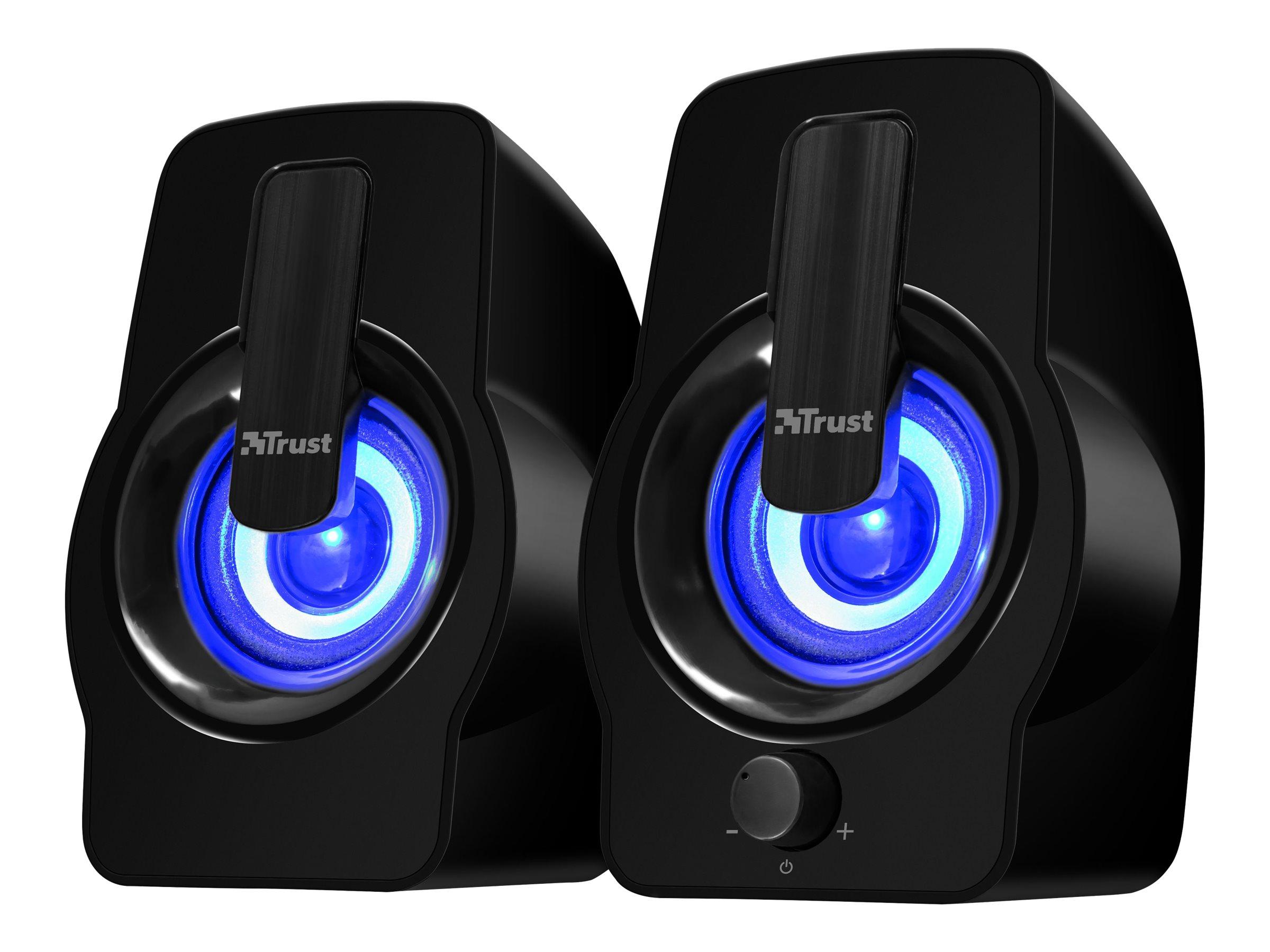 Trust Gemi RGB - Lautsprecher - für PC - 6 Watt (Gesamt) - Schwarz