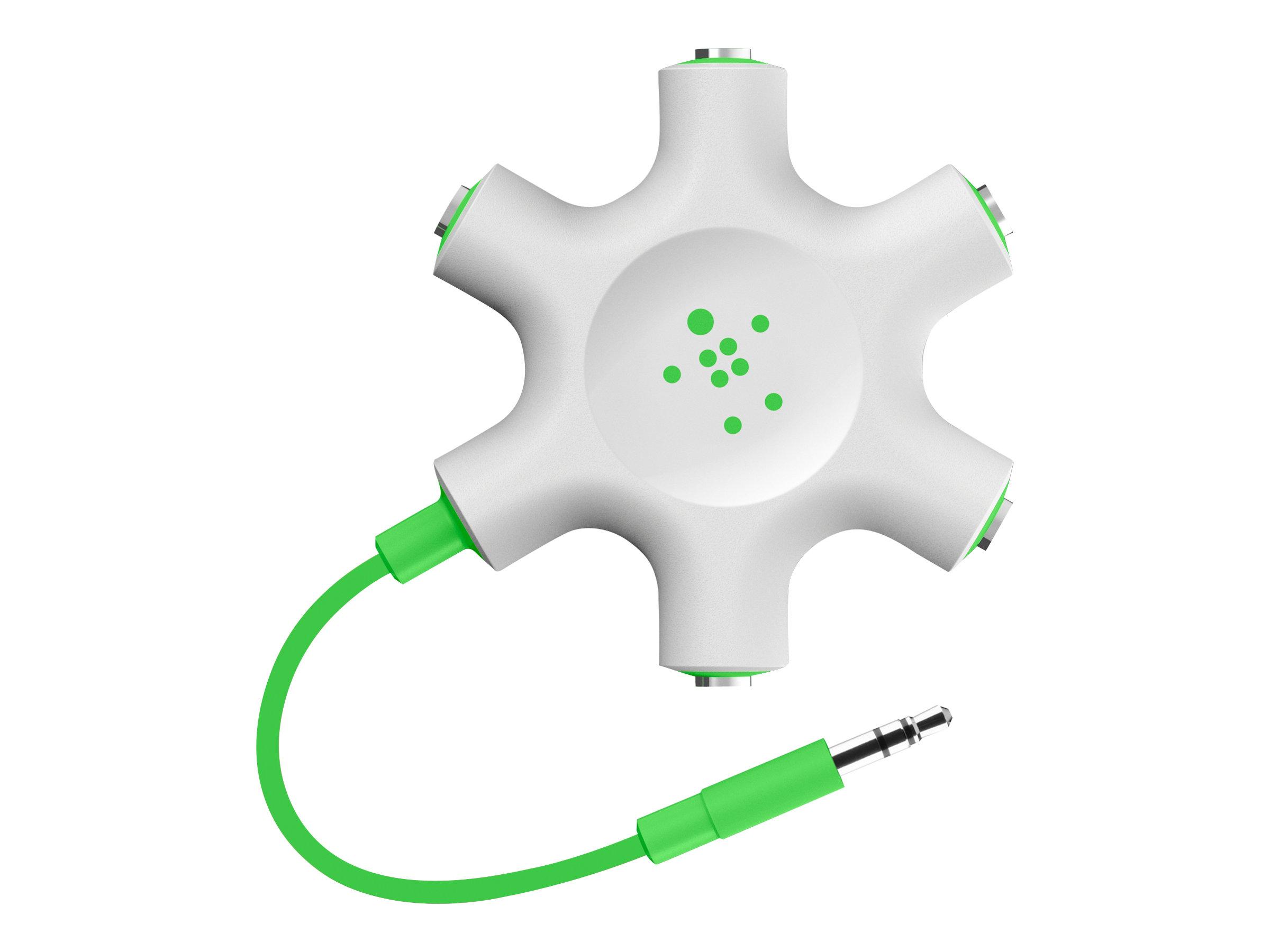 Belkin RockStar - USB-C zu Kopfhöreranschluss / Ladeadapter - Audio/USB - USB-C (M) bis Mini-Stecker, USB-C (W) - USB-Stromverso
