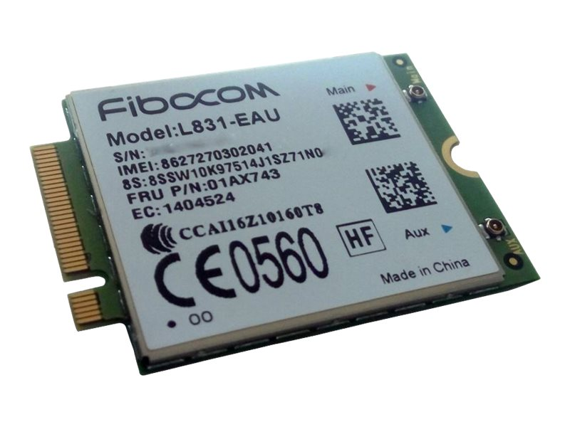 Lenovo ThinkPad Fibocom XMM7160 Cat4 M.2 WWAN - Drahtloses Mobilfunkmodem - 4G LTE - M.2 Card - 150 Mbps - für ThinkPad T25; T47