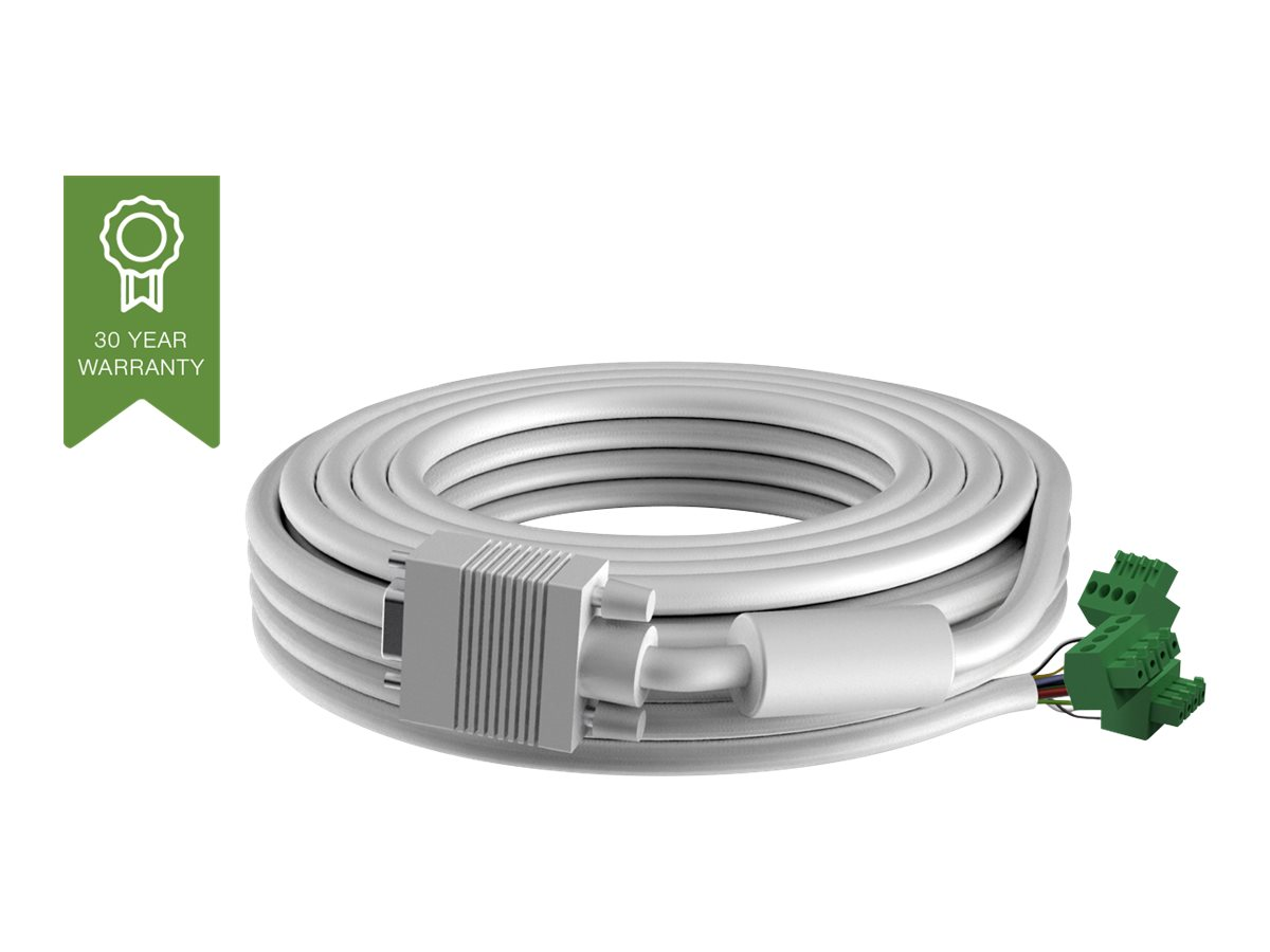 Vision Techconnect 2 - VGA-Kabel - HD-15 (VGA) (M) bis 4-polig Phoenix (M) - 10 m - geformt - beige