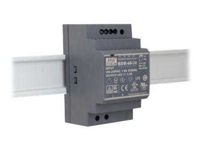 EXSYS EX-6974 - Netzteil (DIN-Schienenmontage möglich) - Wechselstrom 100-240 V - 92 Watt