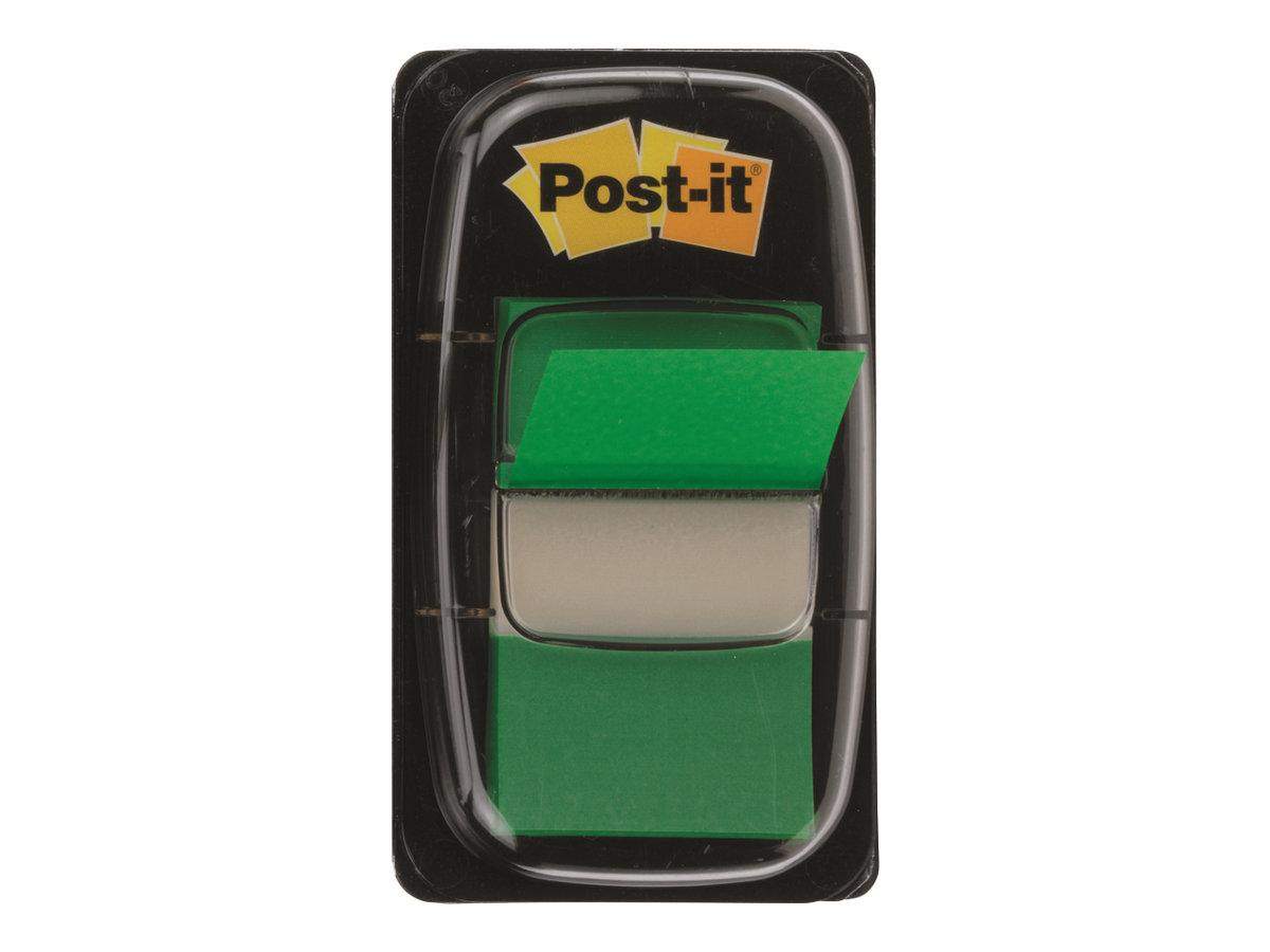 Post-it Index 680-3 - Index-Streifen mit Spender - 25.4 x 43.1 mm - 50 Blatt - Grün