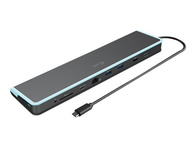 i-Tec USB-C Flat Docking Station + Power Delivery - Docking Station - USB-C 3.1 / Thunderbolt 3 - DP - GigE
