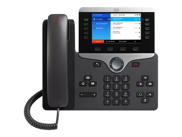 Cisco IP Phone 8861 - With Multiplatform Phone Firmware - VoIP-Telefon - IEEE 802.11a/b/g/n/ac (Wi-Fi) - SIP, RTCP, RTP, SRTP, S
