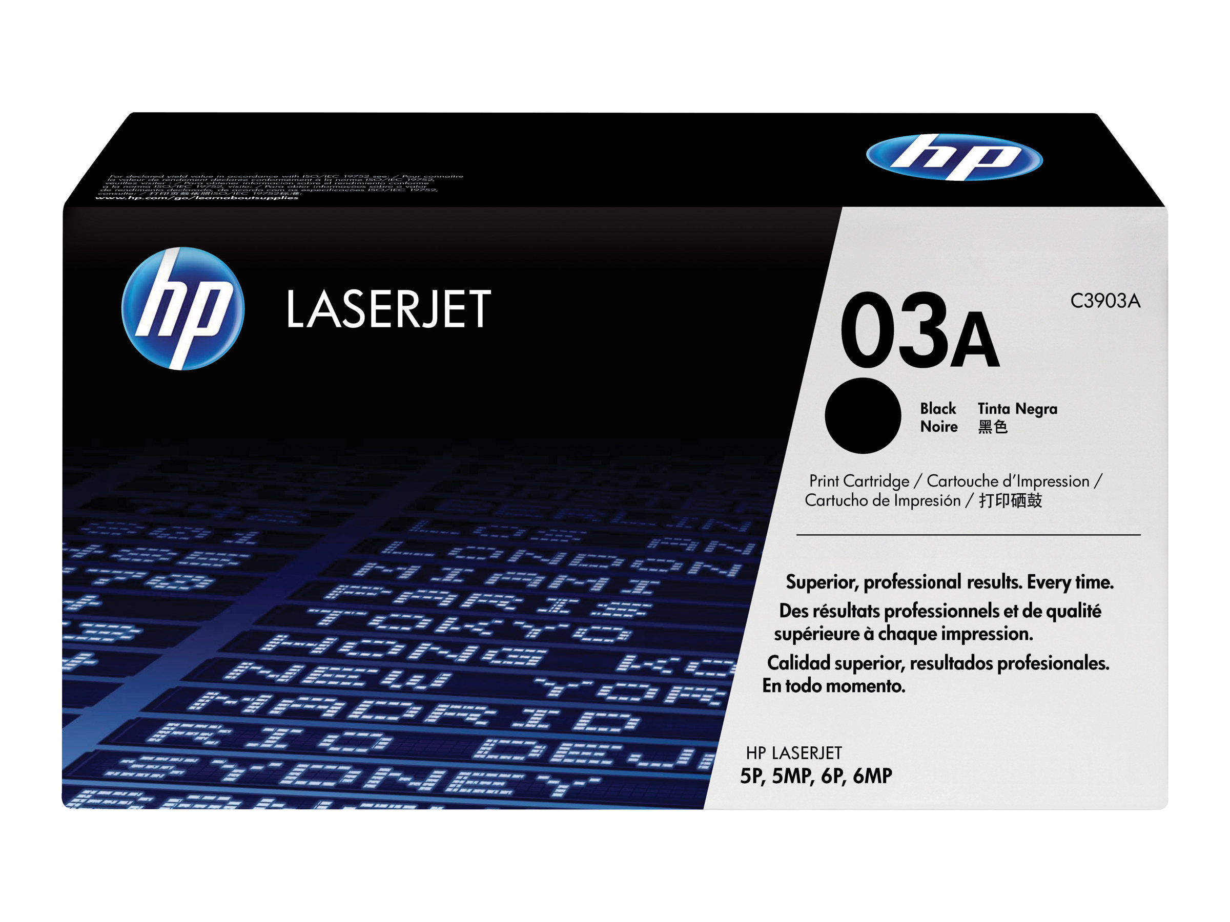 HP 03A - Schwarz - Original - LaserJet - Tonerpatrone (C3903A) - für LaserJet 5, 5mp, 5p, 6mp, 6p, 6pse, 6pxi