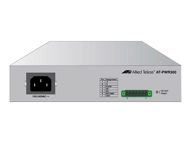 Allied Telesis AT-PWR300 - Netzteil (Rack - einbaufähig) - Wechselstrom 100-240 V - 300 Watt - 48.3 cm (19
