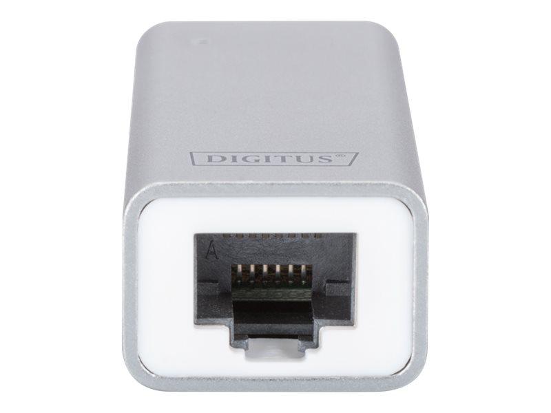DIGITUS DN-3024 - Netzwerkadapter - USB-C - Gigabit Ethernet x 1 - Aluminium