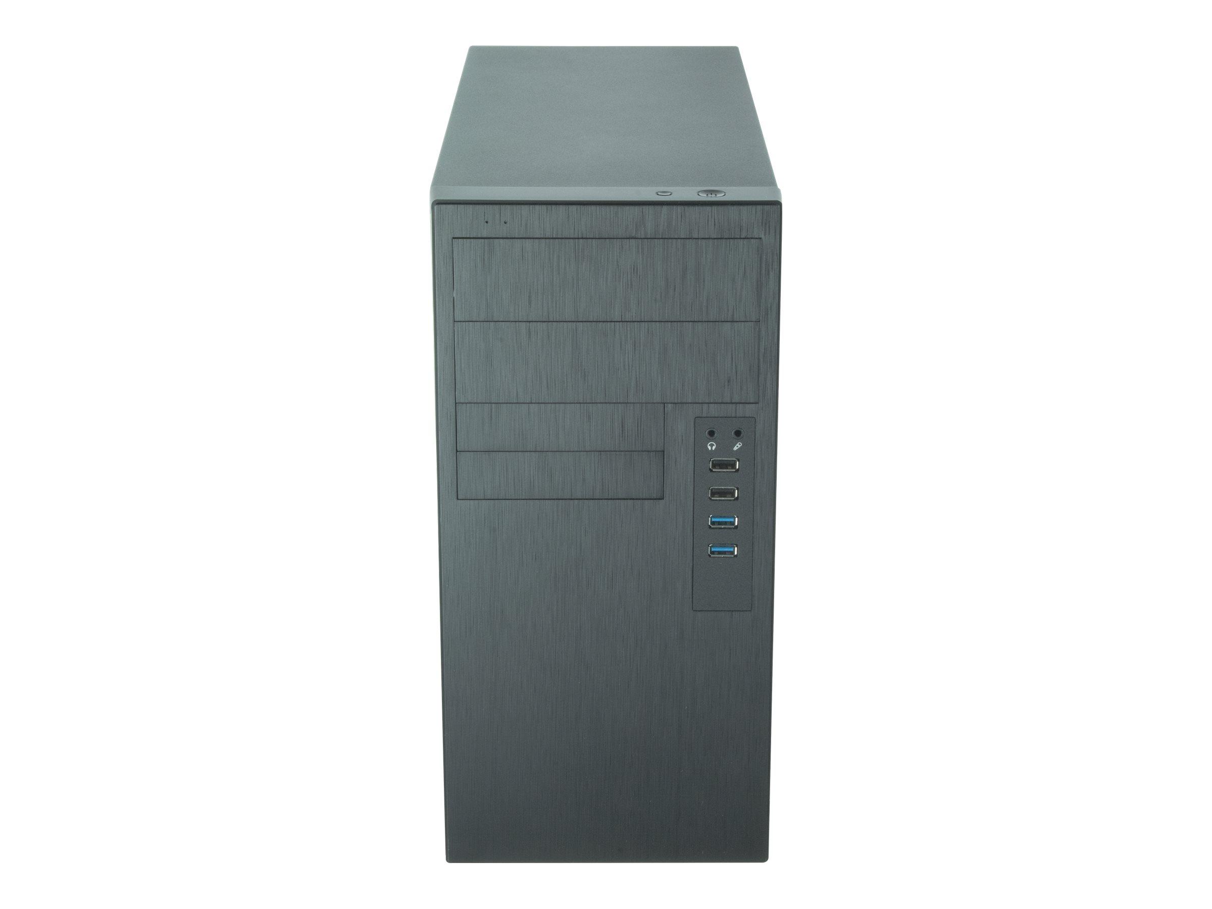 Chieftec Elox Series HO-11B - Tower - micro ATX 350 Watt (ATX) - Schwarz - USB/Audio