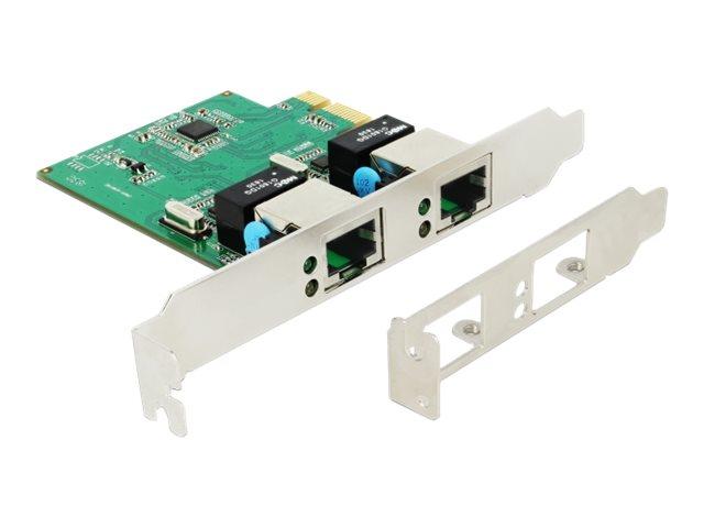 DeLOCK PCI Express Card > 2 x Gigabit LAN - Netzwerkadapter - PCIe 1.1 Low-Profile - Gigabit Ethernet x 2