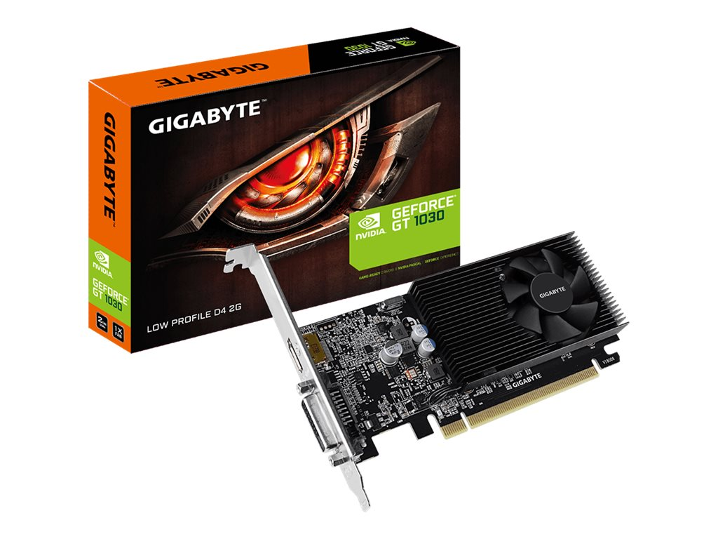 Gigabyte GT 1030 Low Profile D4 2G - Grafikkarten - GF GT 1030 - 2 GB DDR4 - PCIe 3.0 Low-Profile - DVI, HDMI