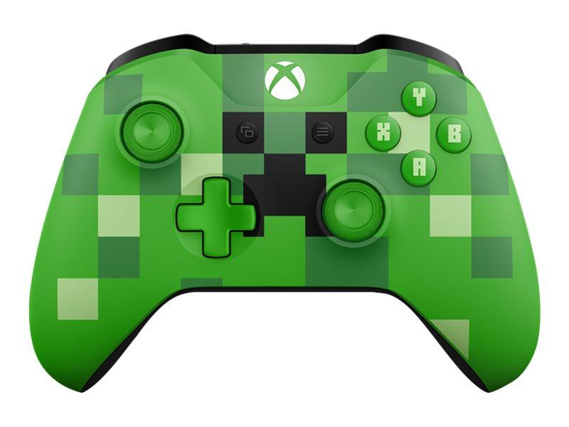 Microsoft Xbox Wireless Controller - Minecraft Creeper - Game Pad - kabellos - Bluetooth - grün