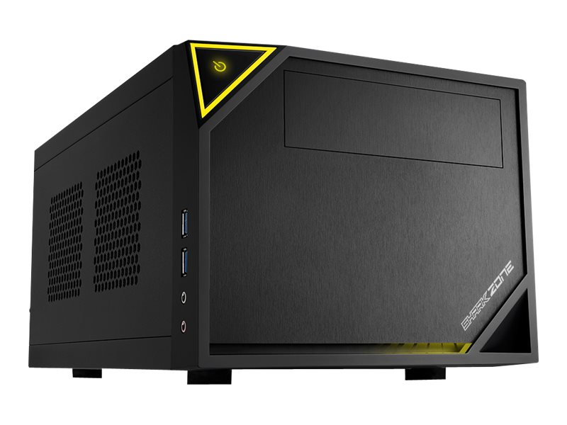 Sharkoon SHARK ZONE C10 - Tower - Mini-ITX - ohne Netzteil (ATX12V / SFX12V) - Schwarz, Gelb - USB/Audio