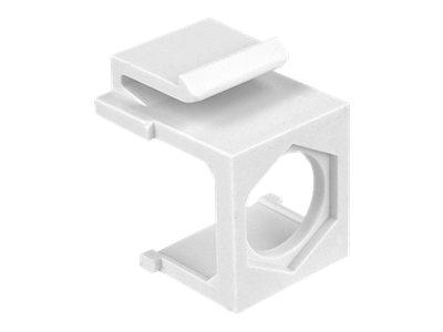 DeLOCK keystone cover with hex hole - Modularer Einsatz (Ausschnitt) - weiss - 1 Anschluss (Packung mit 4)