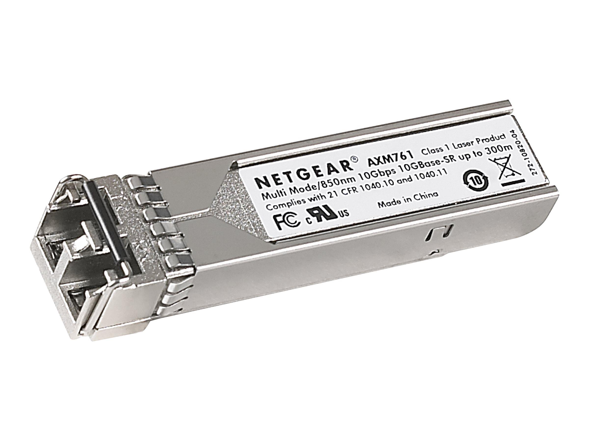 NETGEAR ProSafe AXM761 - SFP+-Transceiver-Modul - 10 GigE - 10GBase-SR - bis zu 300 m - für NETGEAR M4300-28G-PoE+