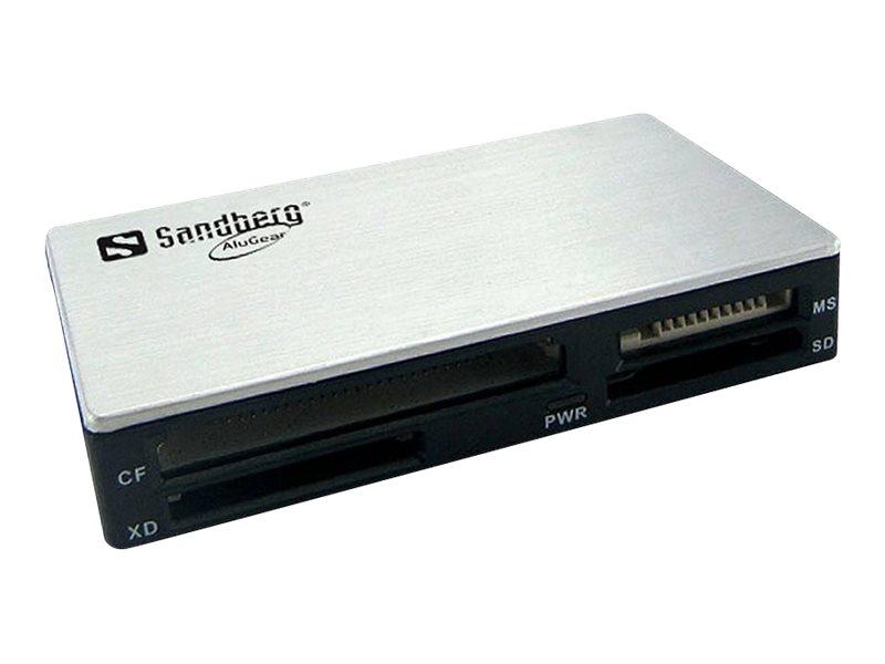 Sandberg USB 3.0 Multi Card Reader - Kartenleser (MS, MMC, SD, xD, CF, TransFlash, microSD, SDHC, MS Micro) - USB 3.0
