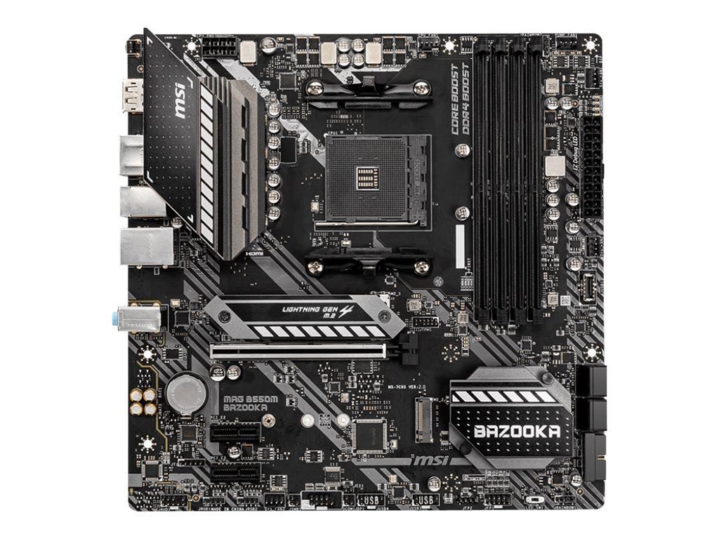 MSI MAG B550M BAZOOKA - Motherboard - micro ATX - Socket AM4 - AMD B550 Chipsatz - USB-C Gen1, USB 3.2 Gen 1