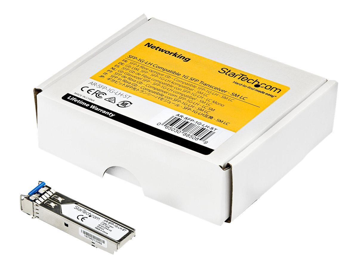 StarTech.com AR-SFP-1G-LH-ST Transceiver Modul (SFP Module, 1000Base-LH Arista Networks kompatibel, Glasfaser, LC Single Mode mi