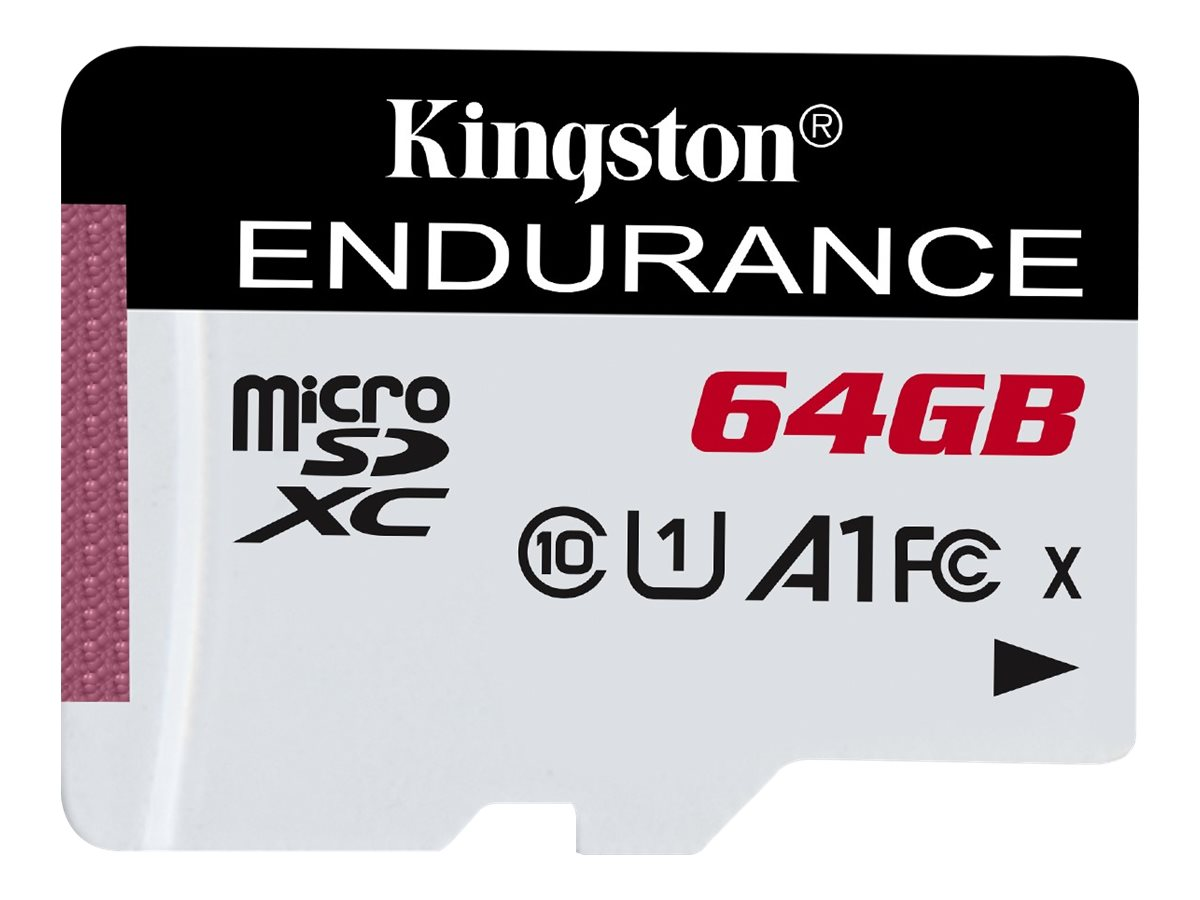 Kingston High Endurance - Flash-Speicherkarte - 64 GB - A1 / UHS-I U1 / Class10 - microSDXC UHS-I
