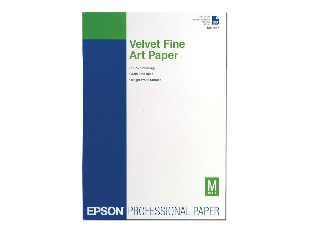 Epson Fine Art Velvet - Velvet - A3 plus (329 x 423 mm) 20 Blatt Papier - für SureColor P5000, P800, SC-P10000, P20000, P5000, P