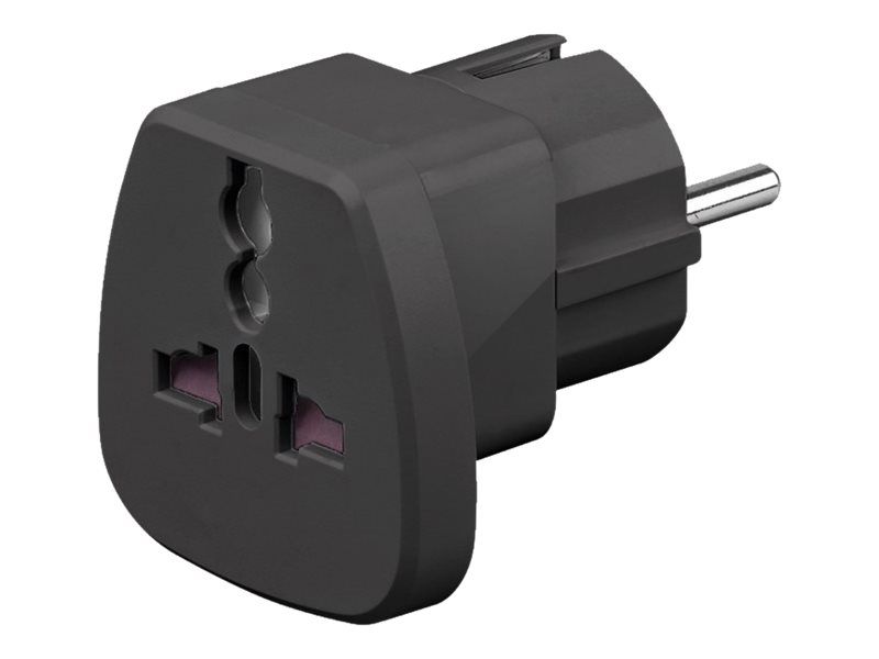 goobay Travel adapter - Adapter für Power Connector - CEE 7/7 (M) - Schwarz - Frankreich, Deutschland