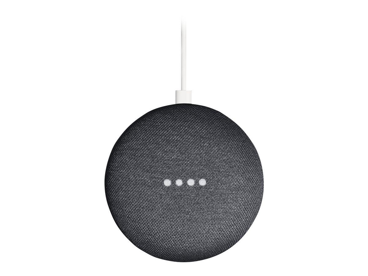 Google Home Mini - Smart-Lautsprecher - Wi-Fi - holzkohlefarben