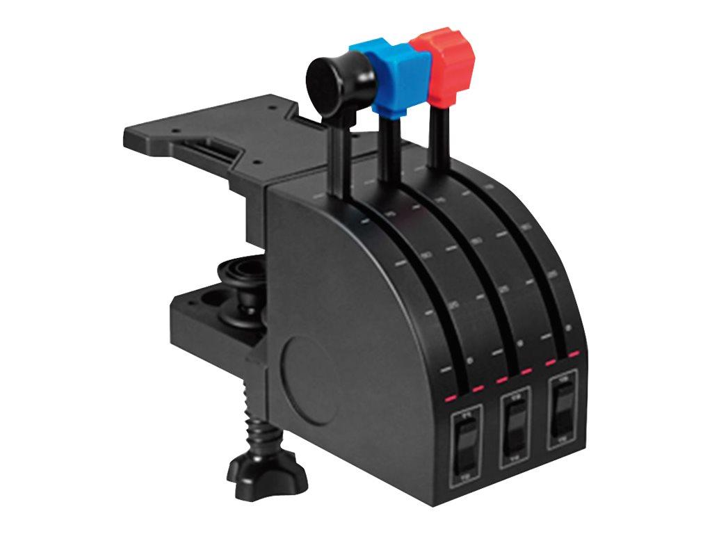 Logitech Flight Yoke System - Steuerhorn und Gasregler - kabelgebunden - für PC