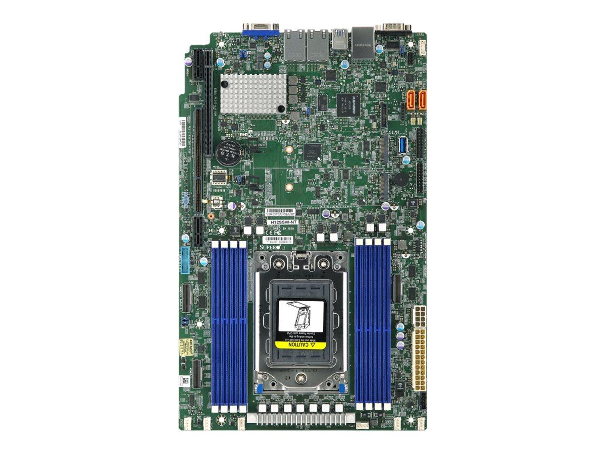 SUPERMICRO H12SSW-NT - Motherboard - Socket SP3 - USB 3.0 - 2 x 10 Gigabit LAN - Onboard-Grafik