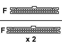 Secomp - IDE-/EIDE-Kabel - UDMA 66/100/133 - IDC 40-polig (W) bis IDC 40-polig (W) - 0.5 m