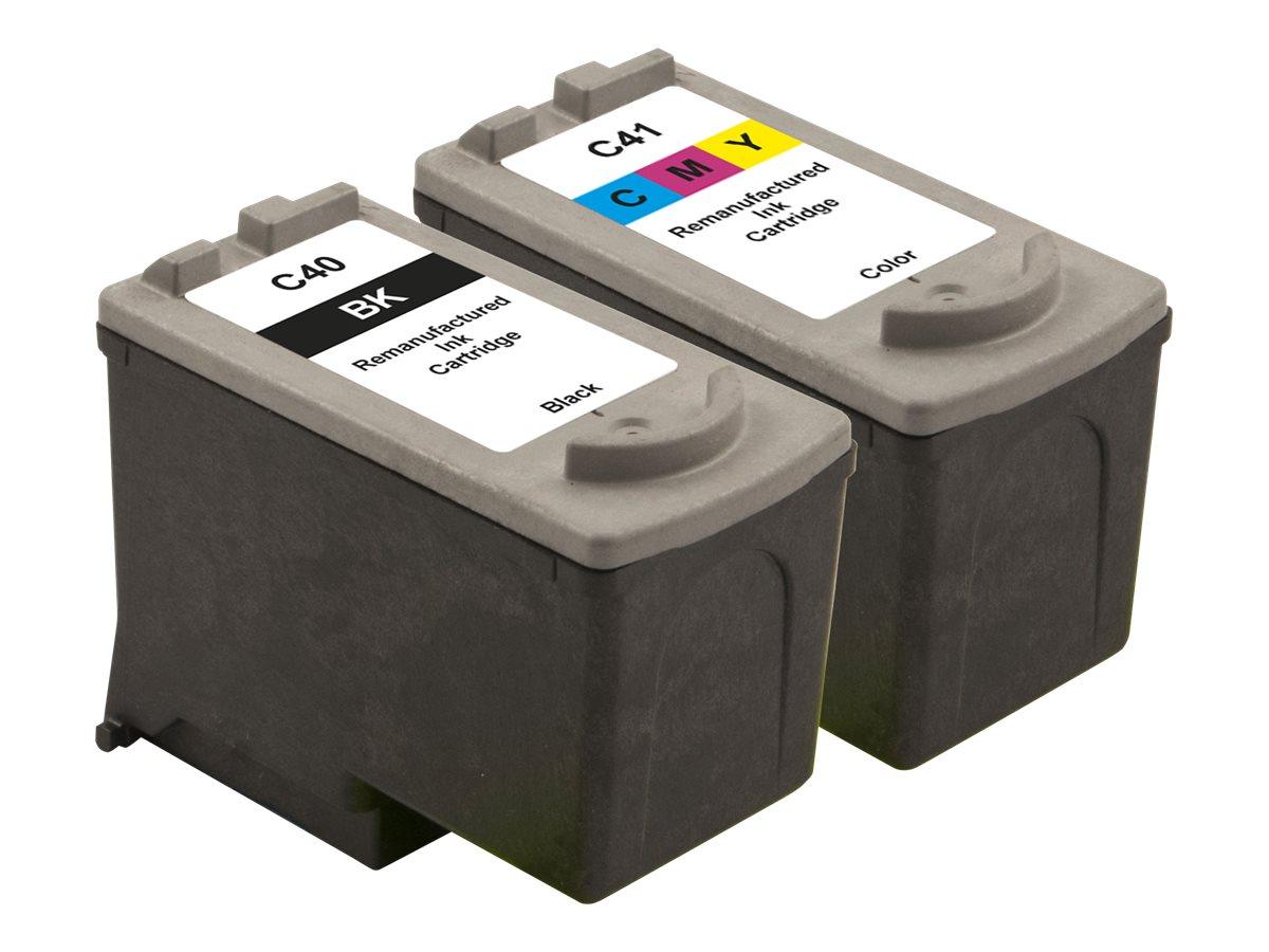 Peach Combi-Pack - 2er-Pack - Schwarz, Farbe (Cyan, Magenta, Gelb) - wiederaufbereitet - Tintenpatrone (Alternative zu: Canon CL