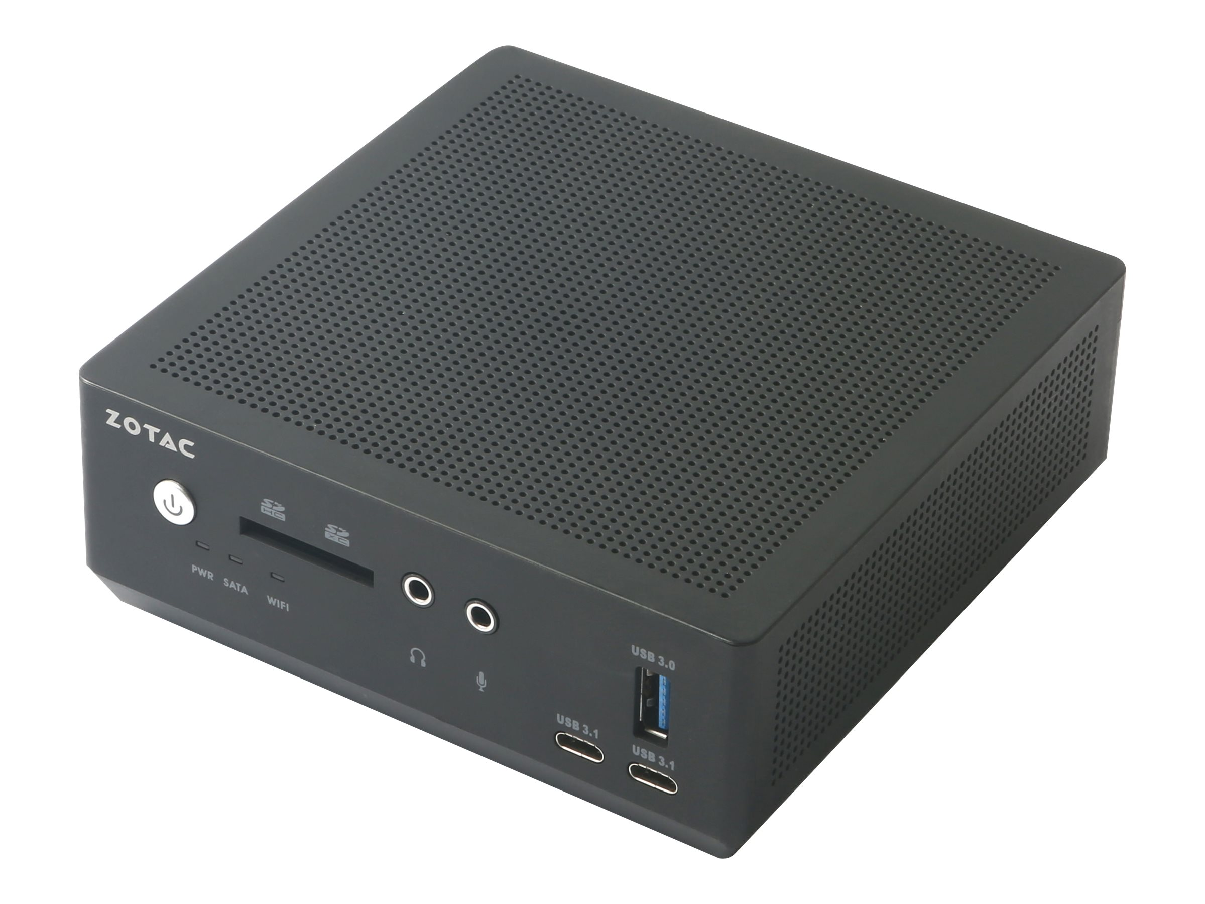ZOTAC ZBOX M Series MI620 nano - Barebone - Mini-PC - 1 x Core i3 8130U / 2.2 GHz - UHD Graphics 620 - GigE