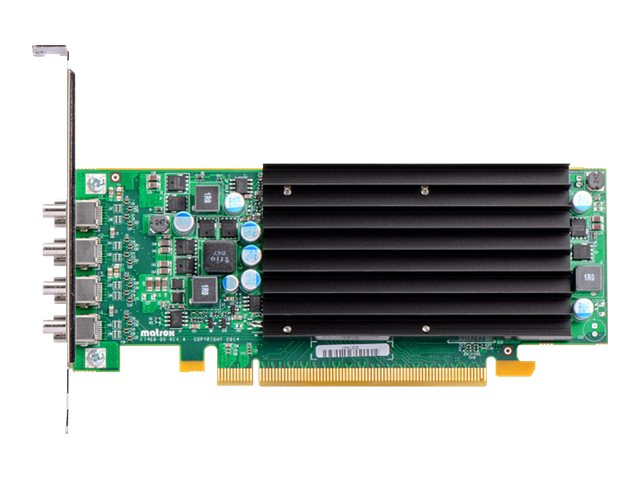 Matrox C420 LP - Grafikkarten - 4 GB GDDR5 - PCIe 3.0 x16 Low-Profile - 4 x Mini DisplayPort - ohne Lüfter