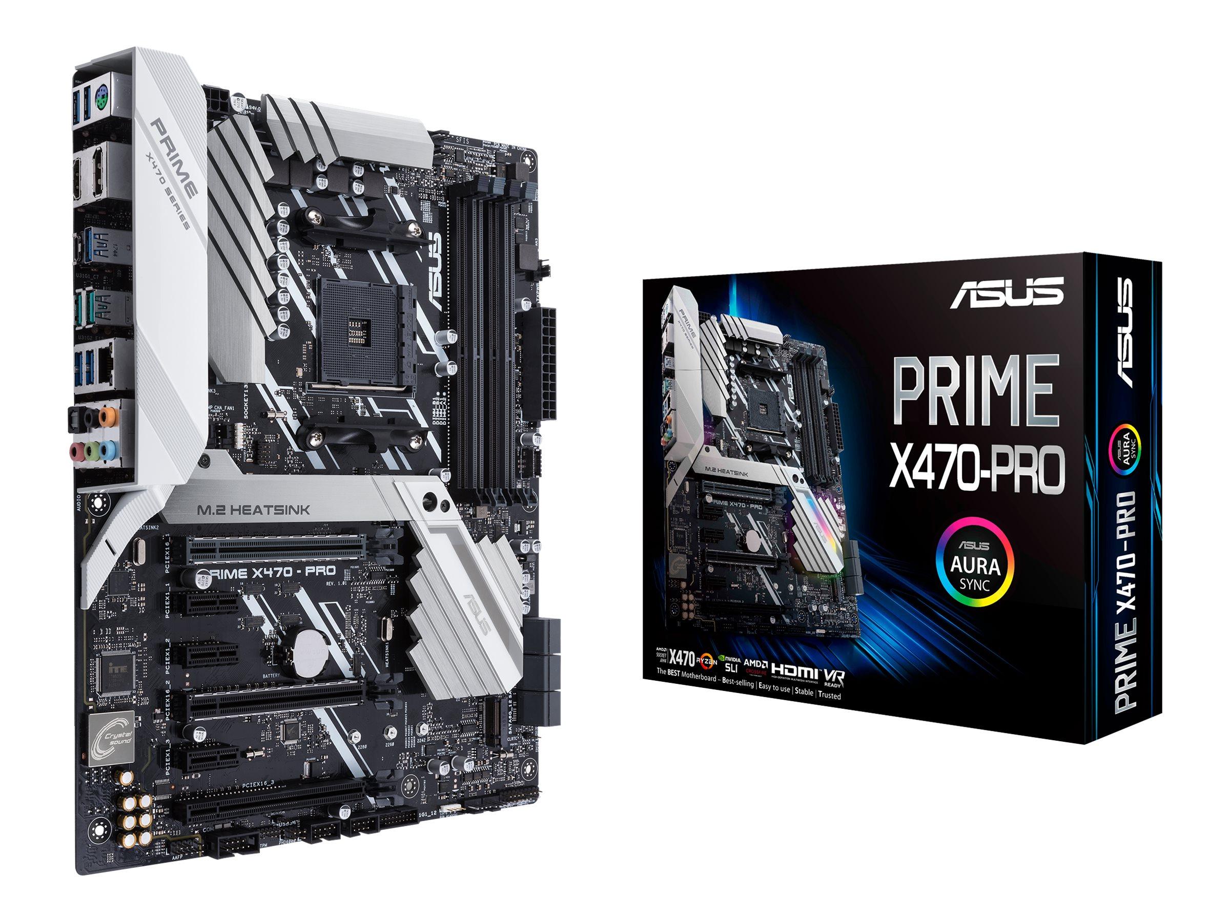 ASUS PRIME X470-PRO - Motherboard - ATX - Socket AM4 - AMD X470 - USB 3.1 Gen 1, USB 3.1 Gen 2, USB-C Gen1