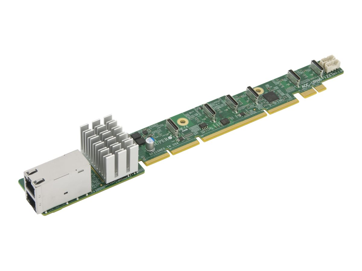 Supermicro Add-on Card AOC-URN6-i2XT 1U Ultra Riser - Netzwerkadapter - 10Gb Ethernet x 2 - für SuperServer 1028U-TN10RT+