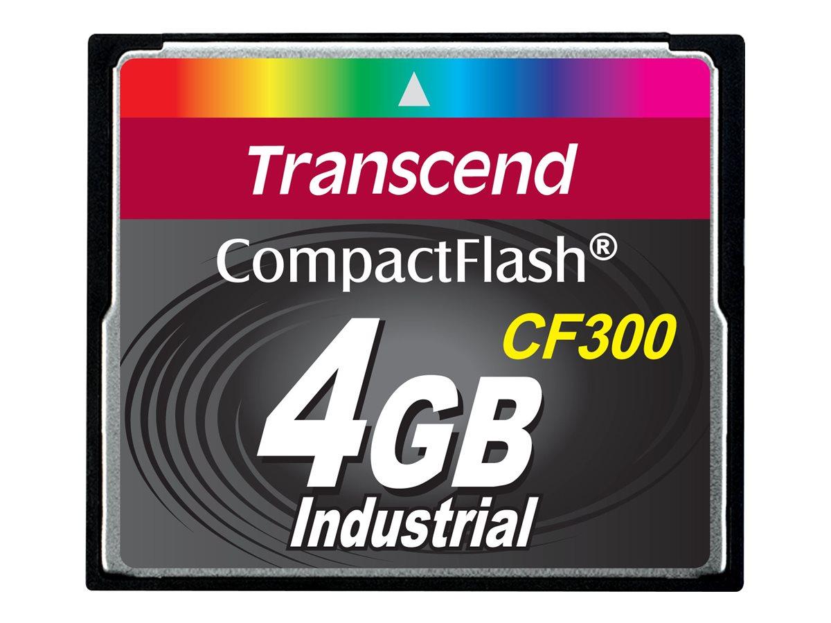 Transcend CF300 Industrial - Flash-Speicherkarte - 4 GB - 300x - CompactFlash