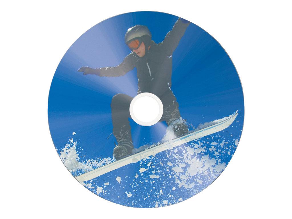 Verbatim - 50 x DVD-R - 4.7 GB 16x - Silber - mit Tintenstrahldrucker bedruckbare Oberfläche, breite bedruckbare Oberfläche - Sp