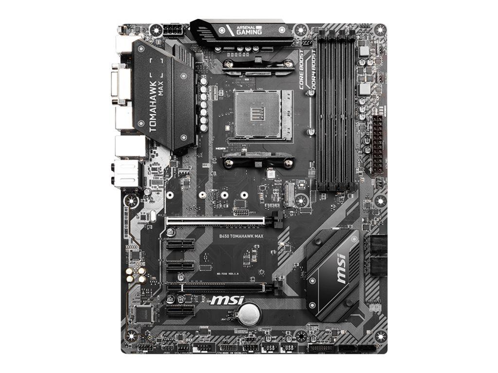 MSI B450 TOMAHAWK MAX - Motherboard - ATX - Socket AM4 - AMD B450 - USB-C Gen2, USB 3.2 Gen 1, USB 3.2 Gen 2